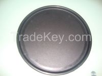 """16"""" ROUND  RUBBER BLACK NON SLIP SERVING DRINK WAITERS TRAY High Quality Buffet Serving Tray"""