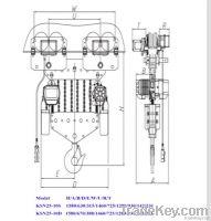 KIXIO 25t electric chain hoist