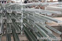 hot dip galvanized steel channels