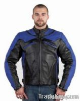 Mens Premium Naked Cowhide Leather Racer Jacket