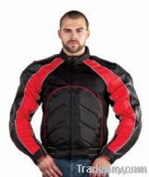 Mens Nylon, Mesh, & Leather Jacket