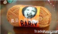 Acrylic clip gold silk yarn