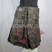 Ladies camouflage kilt wholesale