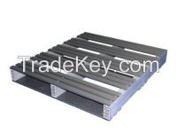 36-Inch by 32-Inch 2-Way Entry Recycled Plastic Pallet with 2000 Pound Weight Capacity