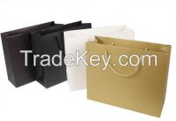 Wholesale Recyclable Black White Paper Bags Grocery Shopping Bags Customized Your Logo