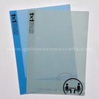 plastic pp A4 L shape file folder