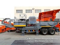 mobile crusher for concrete waste