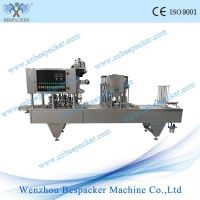 automatic sauces bowl cup filling sealing machine
