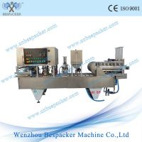 auto cup filling and sealing machine with cup wash