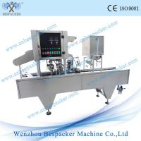 wine cup auto filling and sealing machine