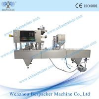 Automatic cup vacuum filling and sealing machine
