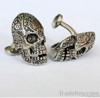 Hot Selling Stainless Steel Suger Skull Cufflinks