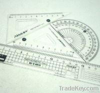 ruler, straight ruler, student ruler, office ruler
