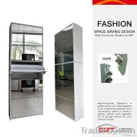 5 drawers MDF shoe cabinet with mirrors