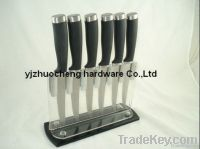 6 PCS stainless steel steak knife set with acrylic block