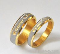 2013 Fashion hot sale exciting forever love ring titanium steel ring