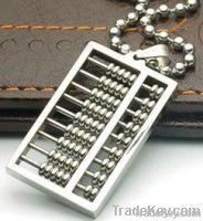 special custom abcus pendant wholesale titanium steel jewelry moq. 1pc