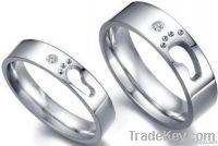 titanium stainless steel lover's footmark cute ring