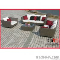 Alu frame fashion outdoor PE rattan sofa furniture for European