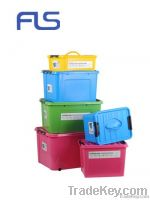 Large plastic containers with handle and wheel