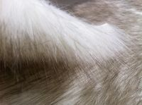 Acrylic ivory tip-dyed faux fur