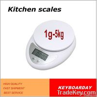 Easy to use, read 5kg digital kitchen scale for food, fruit