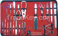 Professional Beauty Instruments Saloon Kit, Manicure, Pedicure, Shaving Instruments Barber Scissors and Thinner Japanese Stainless Steel product By Zabeel Industries