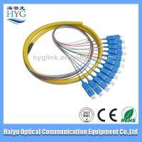 free shipping fiber optic 1-96 F aqua mpo-lc om3 branch catch cord