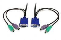 OEM  KVM cable with DVI/VGA/USB/PS2/3.5mm