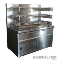 Factory Made Commercial Large Charcoal Chicken Rotisserie For Sale