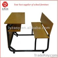 School desk and bench