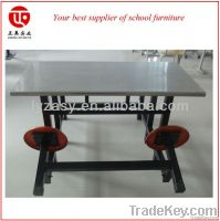 Stainless steel  cateen table and bench
