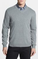 100 % ORGANIC COTTON V - NECK MENS SWEATERS MACHÄ°NE WASHABLE