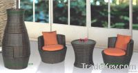 M622 PE rattan foldable round chair&tabe sets