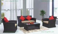 M914 PE rattan sofa