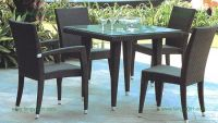 M663 PE rattan chair&tabe sets