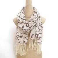 winter warm paisley print wool scarf