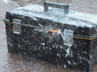 Hard plastic waterproof safety toolbox