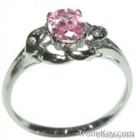 Ring with Tourmaline, Silver Jewelry, Jewelry Fashion with Gemstone