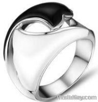 925 Sterling Sliver agate setting gemstone fashion jewelry ring