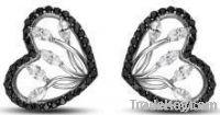 2013 Fashion Silver Earrings for Women/CZ Stud Earrings/Earring