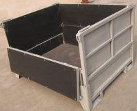 Steel pallet container, Conteneur palette d'acier, contenedor de paleta de acero