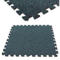 Interlocking rubber tile for gym