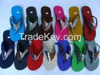 Bohemian beaded Thai silk slippers