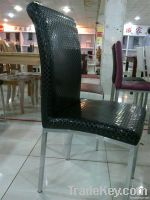 Modern 100% PU synthetic leather metal dining chairs