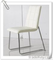 Dining chair PU with metal frame