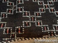 MOROCCAN VINTAGE RUG from goat hair