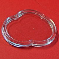 Acrylic irregular coin display capsule