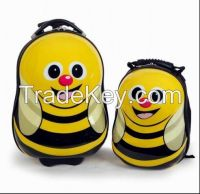 directly factory, bee printing children luggage, both oem and odm are acceptable, kids luggage, AZ3162