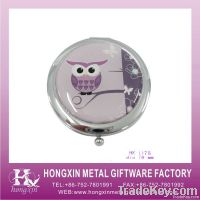 Round paper owl wholesale compact mirror